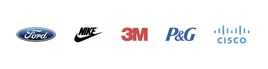 Ford,Nike,3M,P&G,Cisco