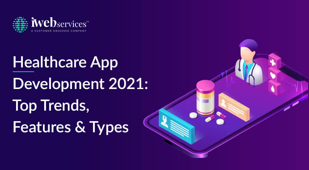 Healthcare app development 2021: Top trends, features, and types